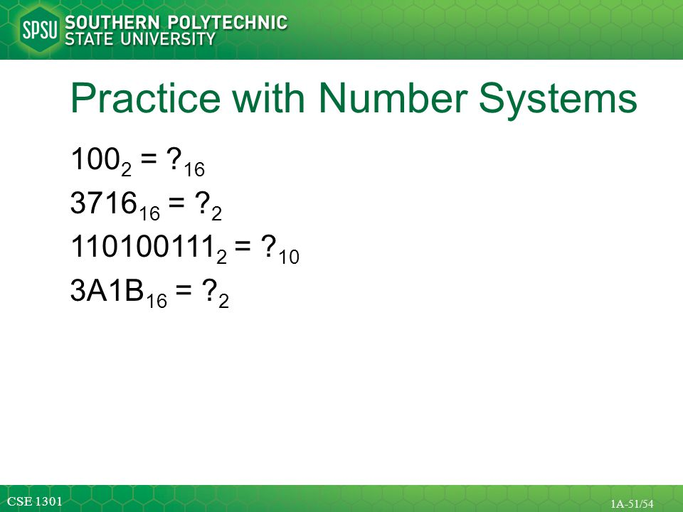 Practice with Number Systems