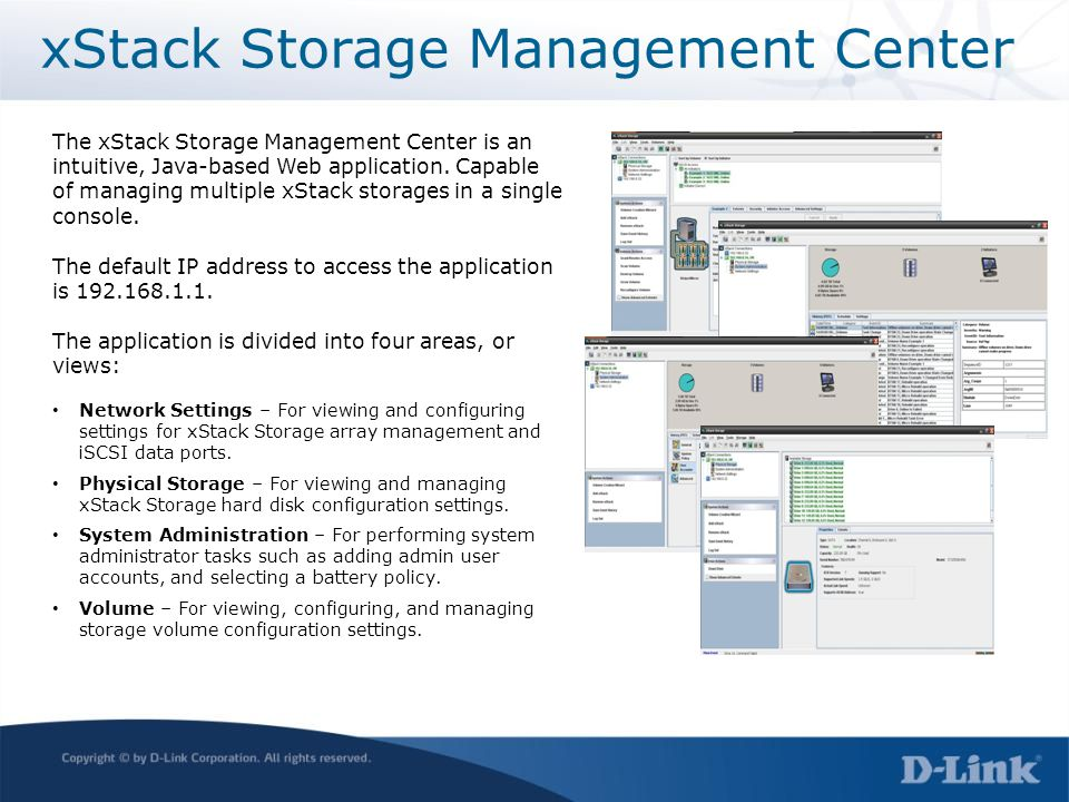 xStack Storage Management Center