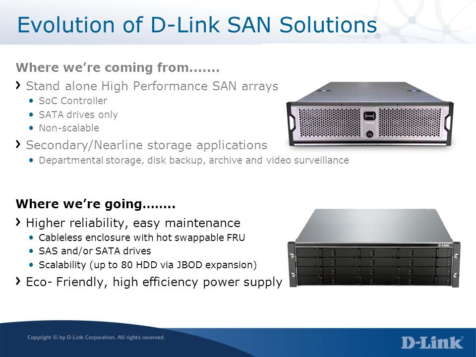 Evolution of D-Link SAN Solutions