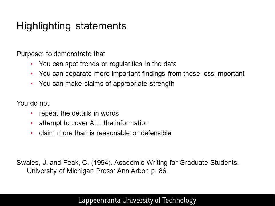 Swales And Feak Data Commentary Academic Writing