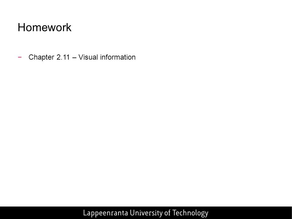 Homework Chapter 2.11 – Visual information