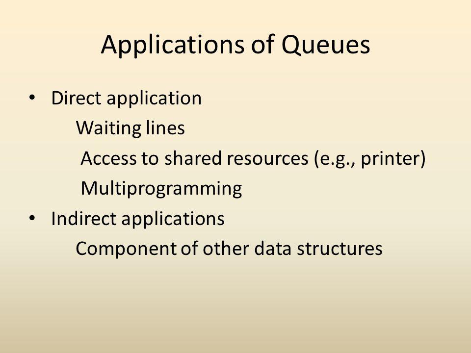 Applications of Queues