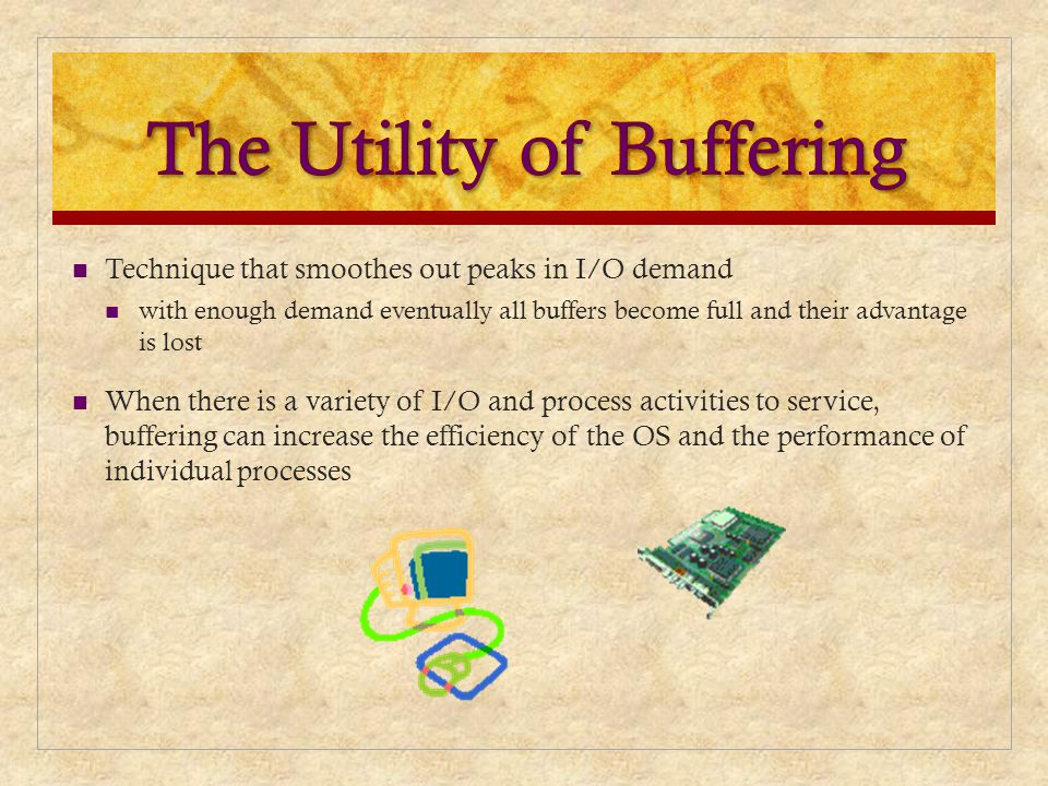 The Utility of Buffering