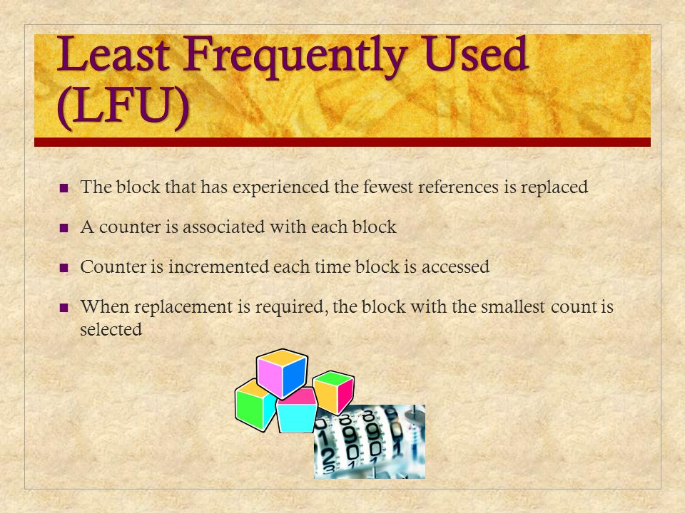 Least Frequently Used (LFU)