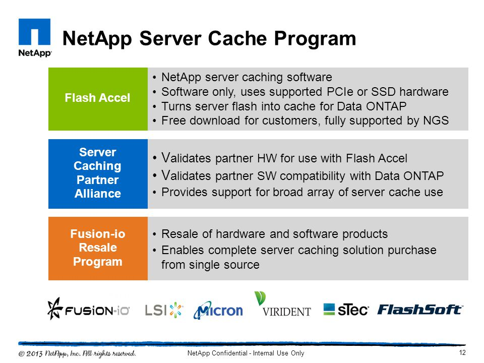 NetApp Server Cache Program