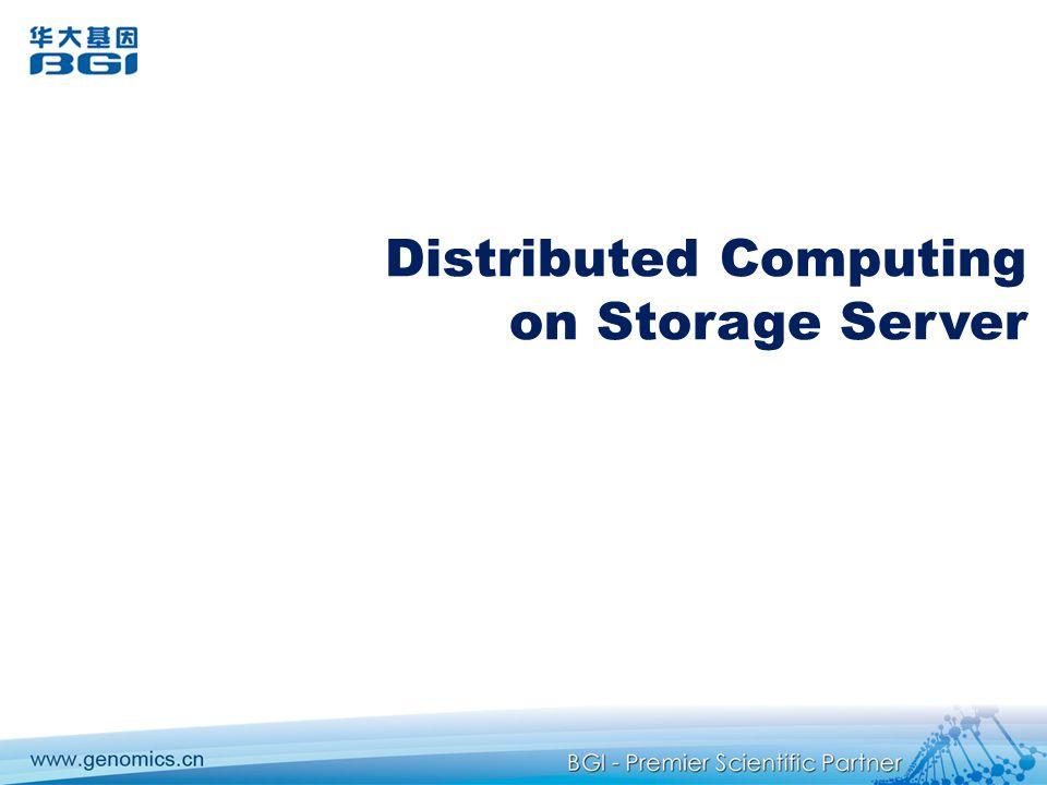 Distributed Computing on Storage Server