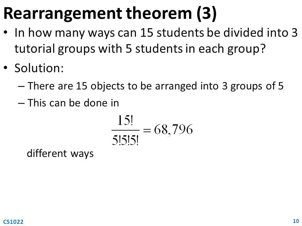 Rearrangement theorem (3)