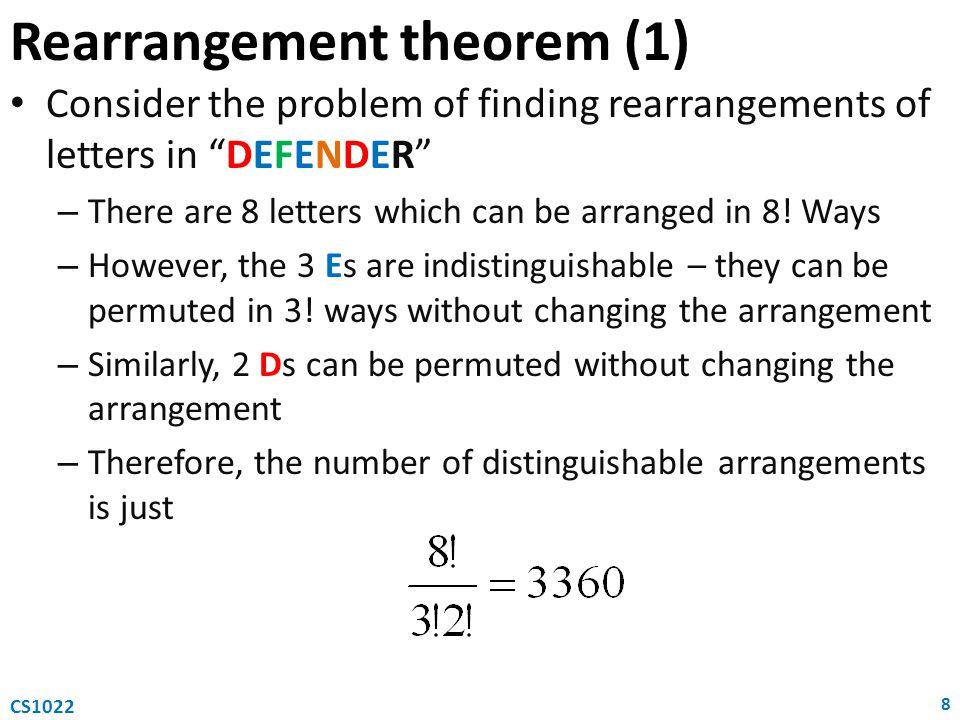 Rearrangement theorem (1)