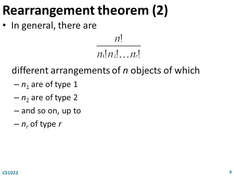 Rearrangement theorem (2)