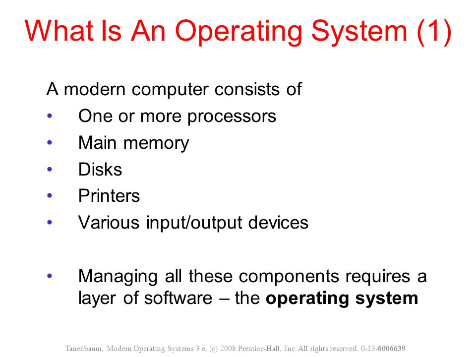 What Is An Operating System (1)