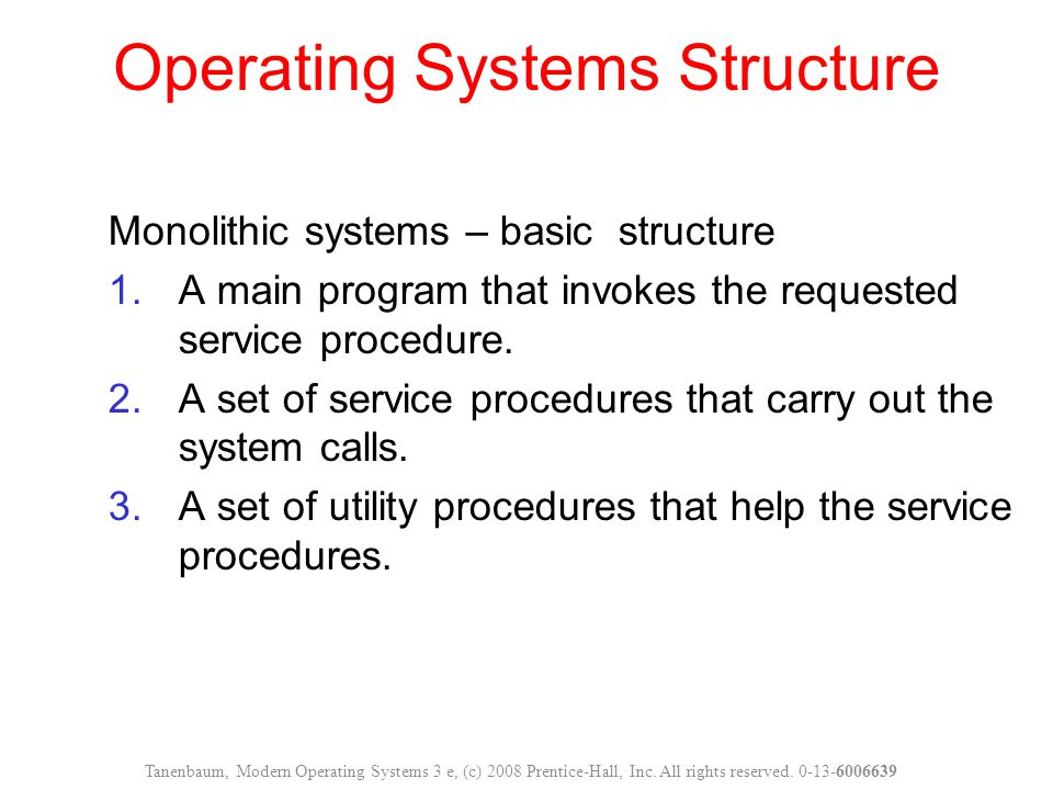 Operating Systems Structure