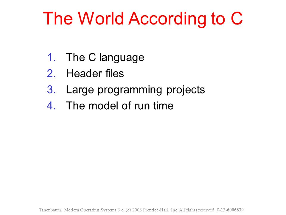 The World According to C