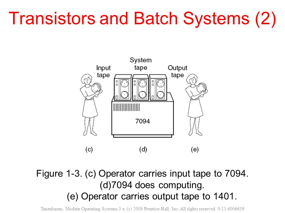 Transistors and Batch Systems (2)