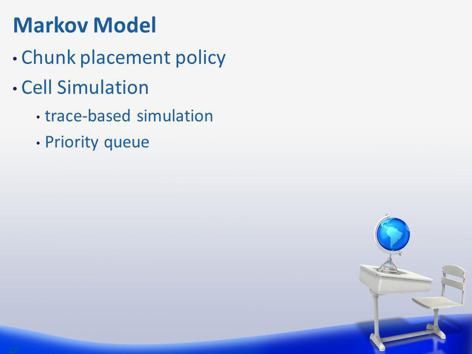 Markov Model Chunk placement policy Cell Simulation