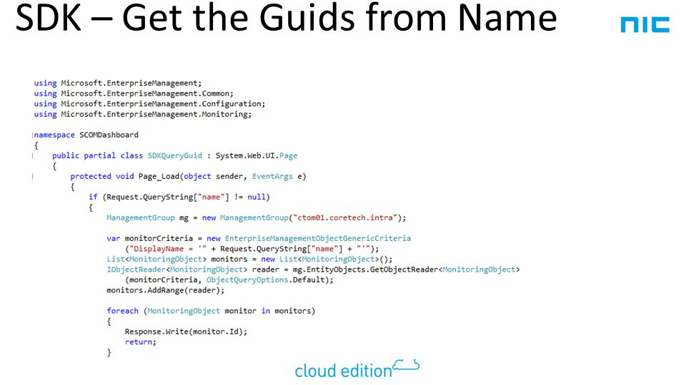 SDK – Get the Guids from Name