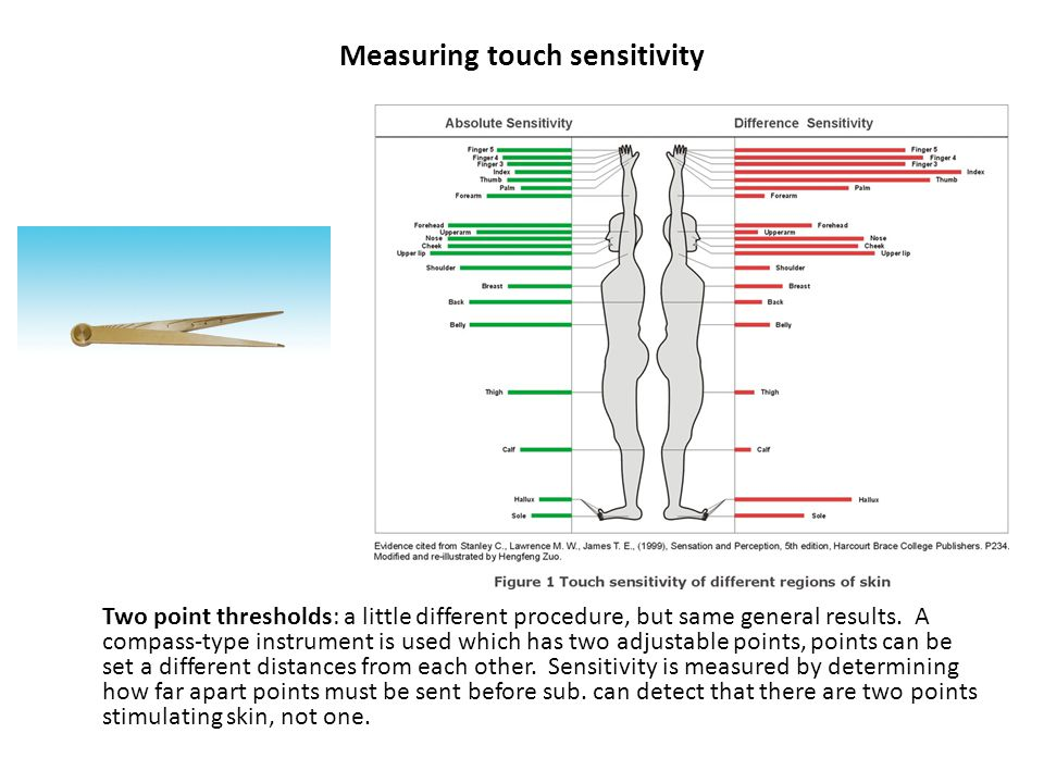 Measuring touch sensitivity