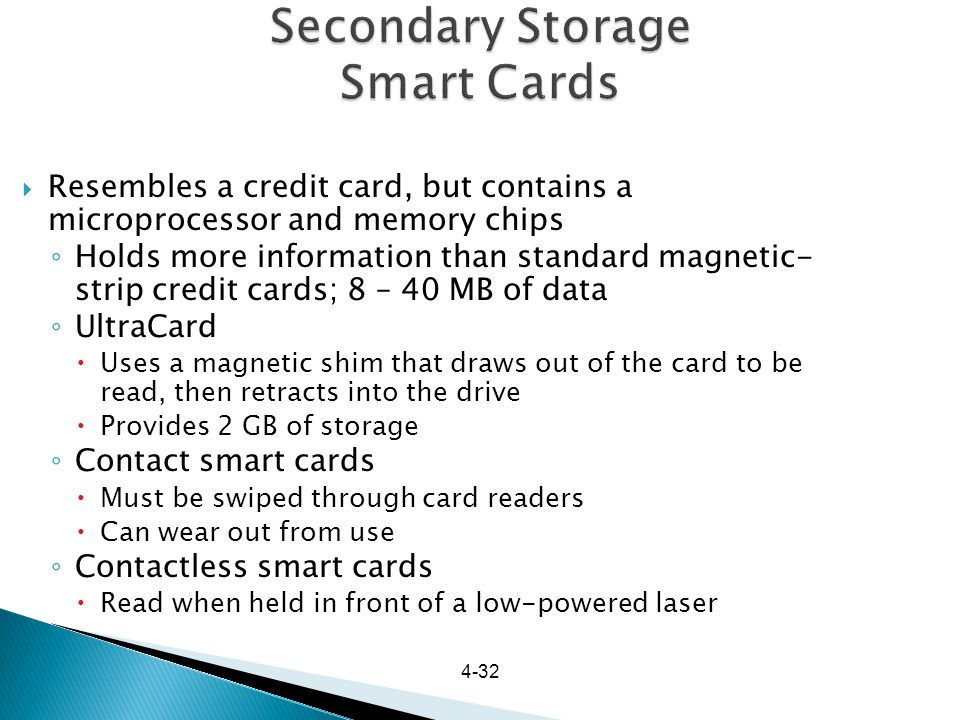 Secondary Storage Smart Cards