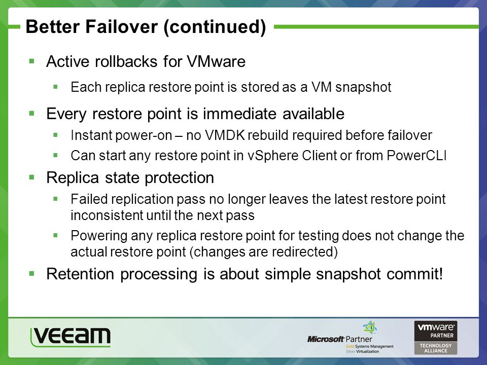 Better Failover (continued)