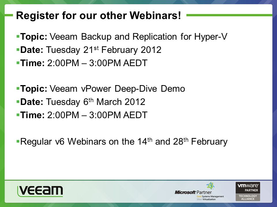 Register for our other Webinars!