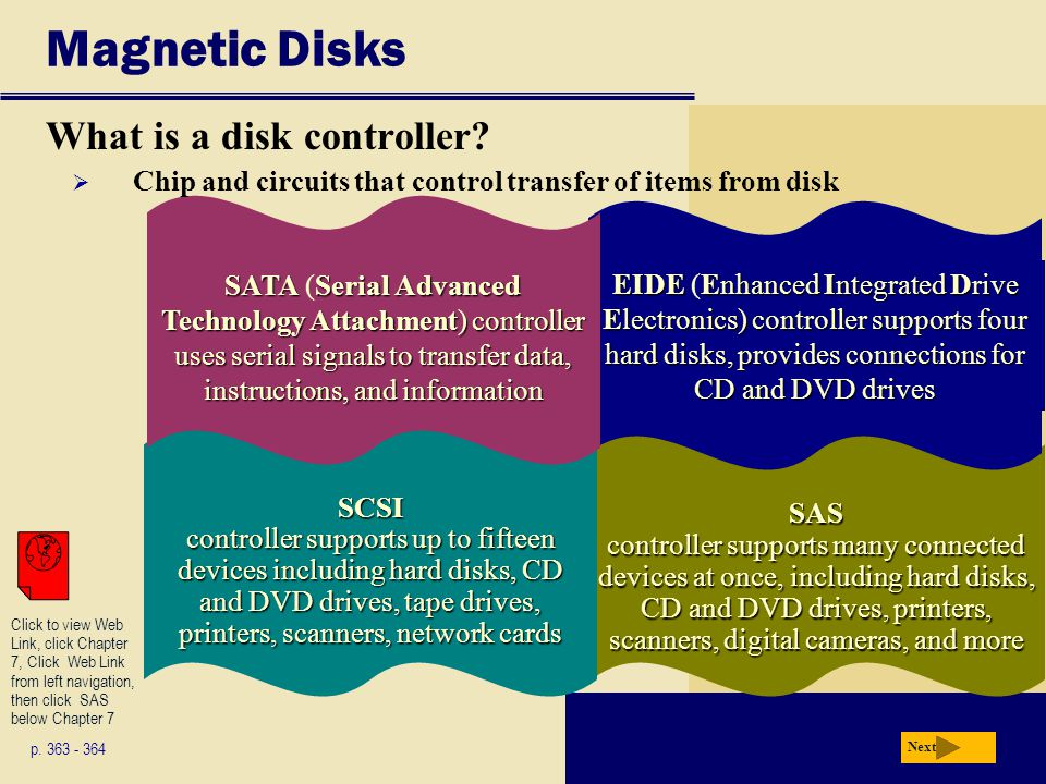 Magnetic Disks What is a disk controller