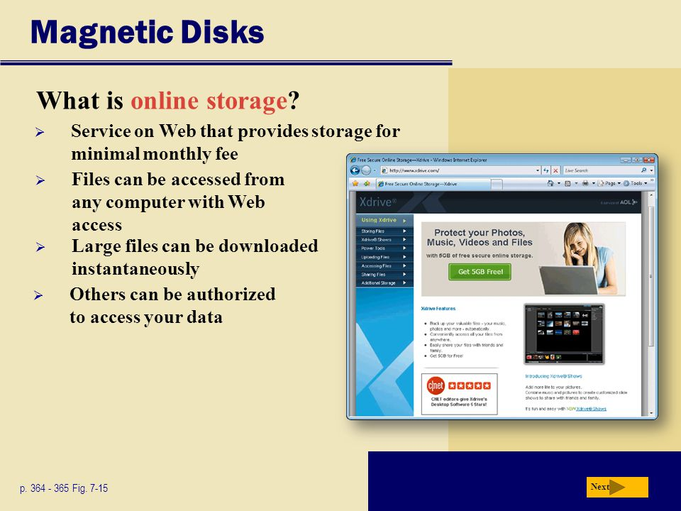 Magnetic Disks What is online storage