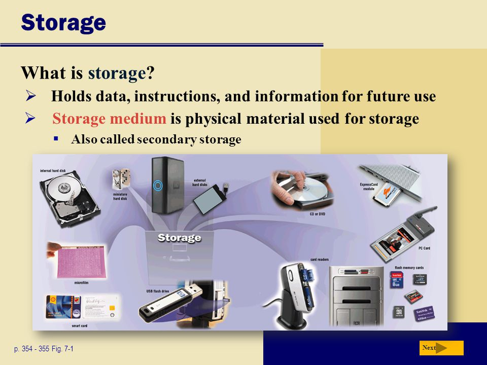Storage What is storage