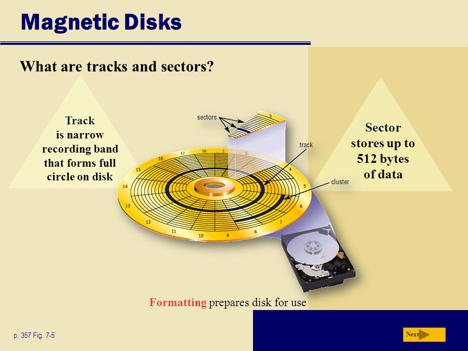 Magnetic Disks What are tracks and sectors