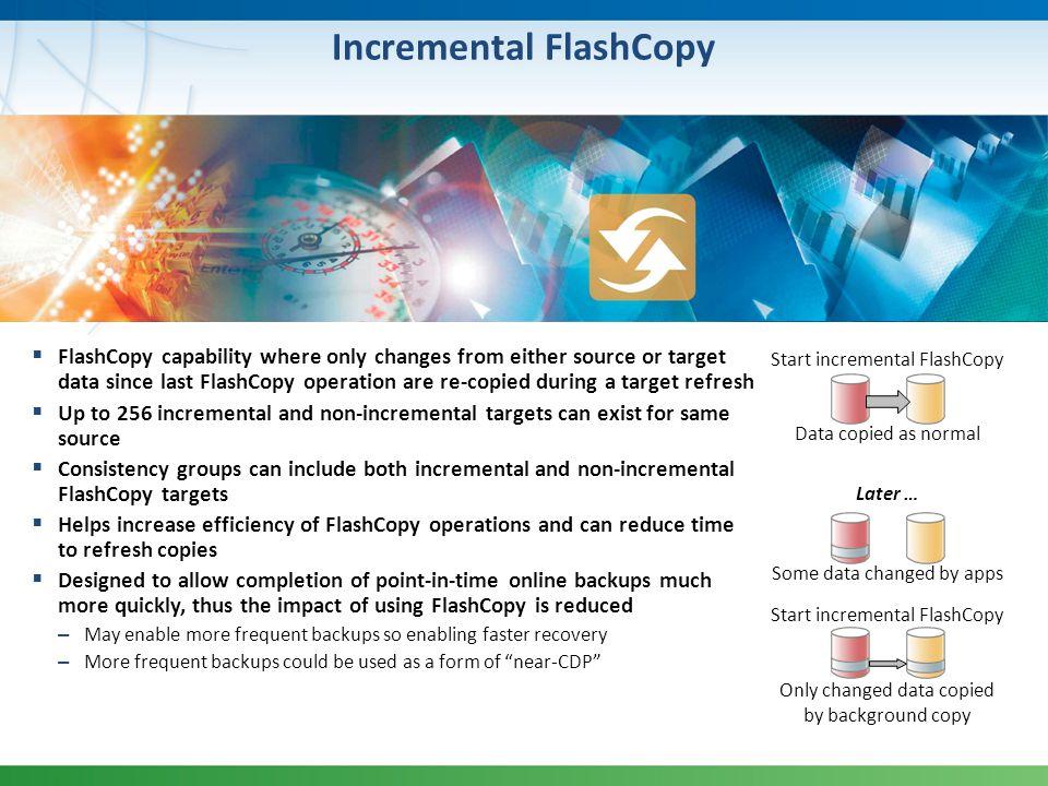 Incremental FlashCopy