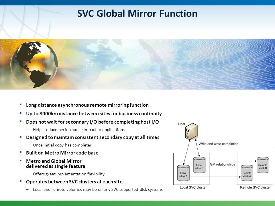 SVC Global Mirror Function