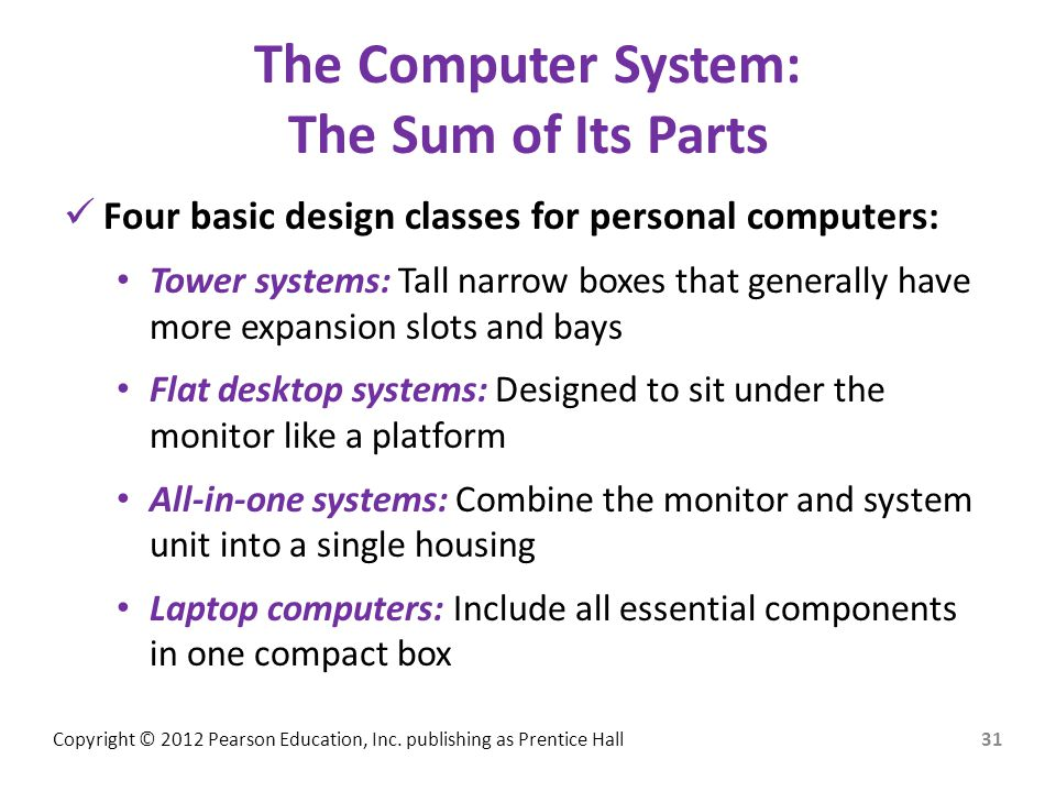 The Computer System: The Sum of Its Parts