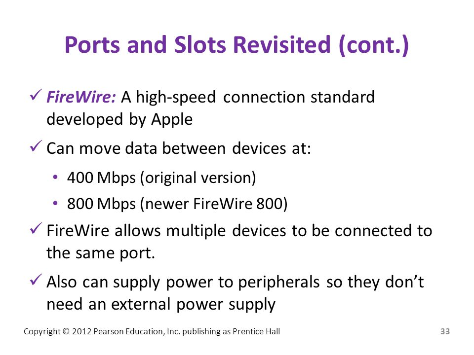Ports and Slots Revisited (cont.)