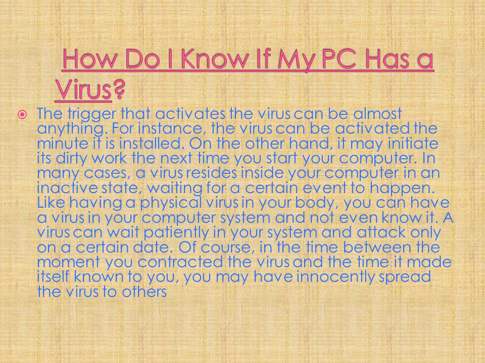 How Do I Know If My PC Has a Virus