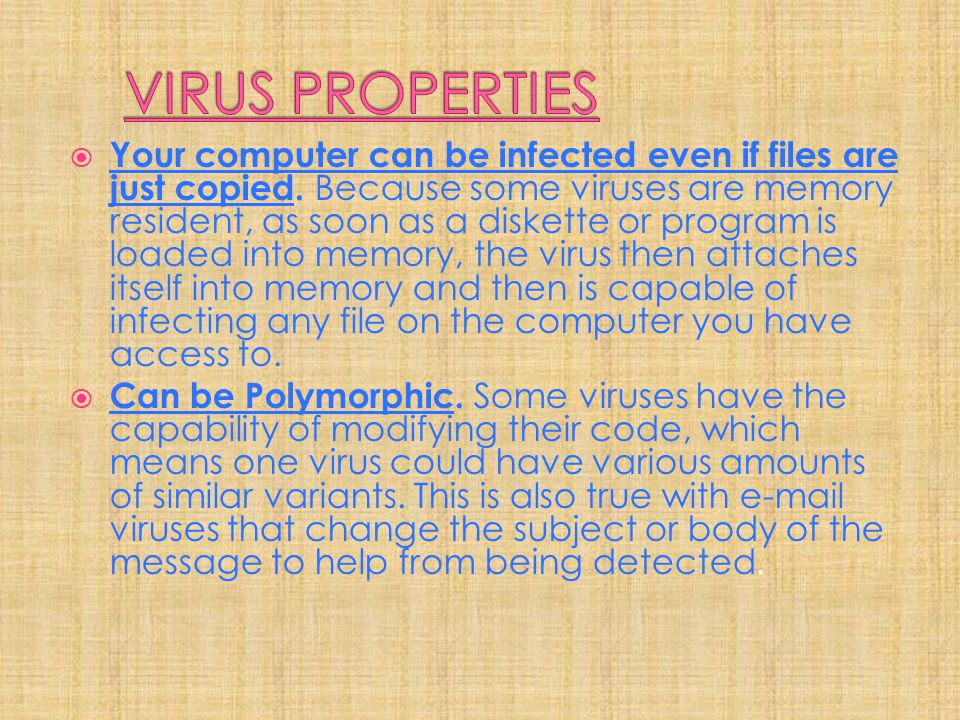 VIRUS PROPERTIES
