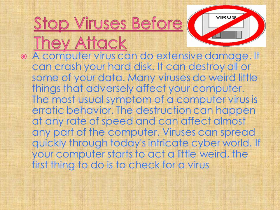 Stop Viruses Before They Attack