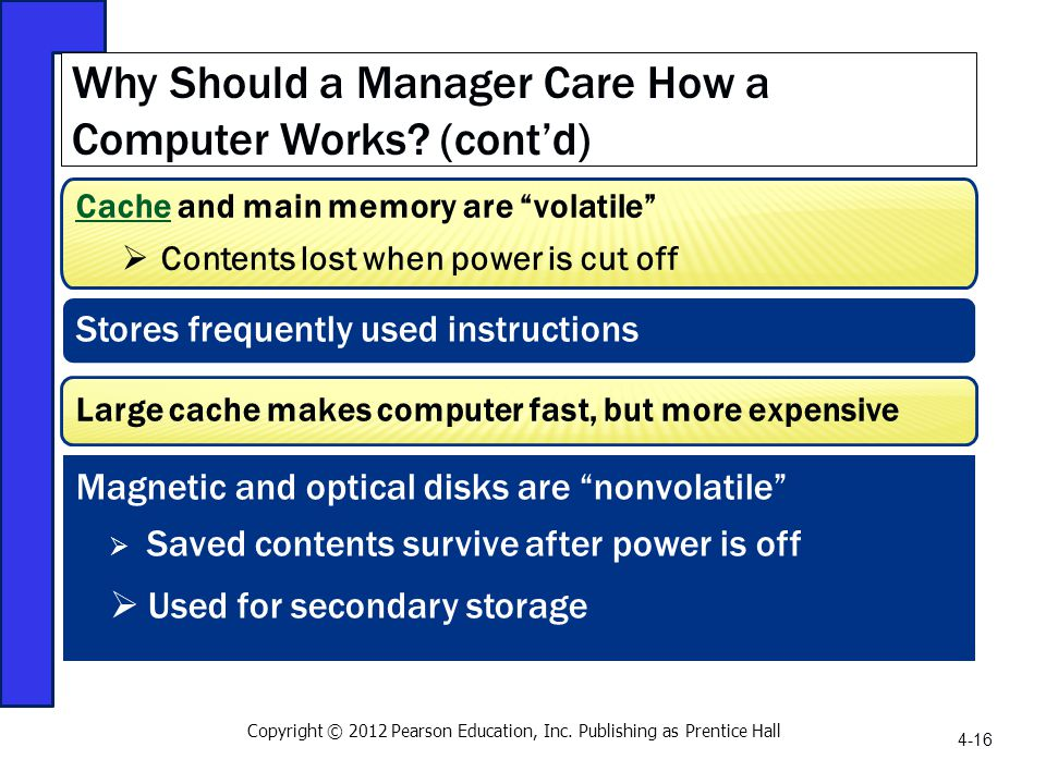 Why Should a Manager Care How a Computer Works (cont'd)