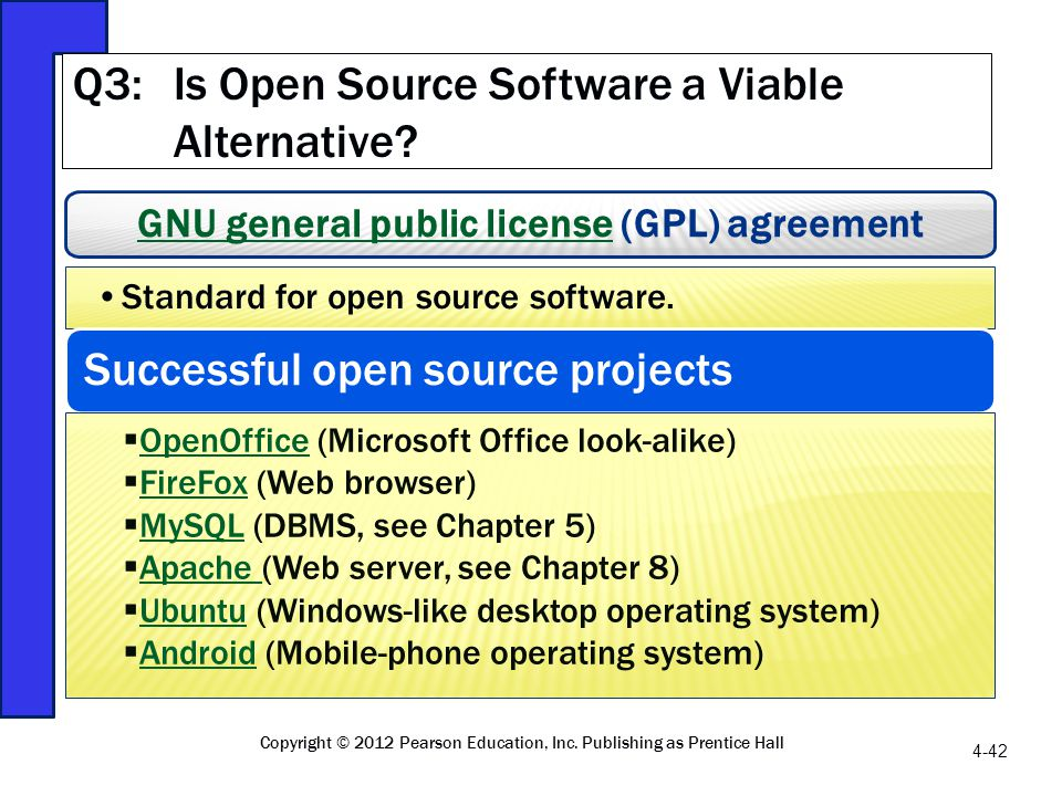 Q3: Is Open Source Software a Viable Alternative