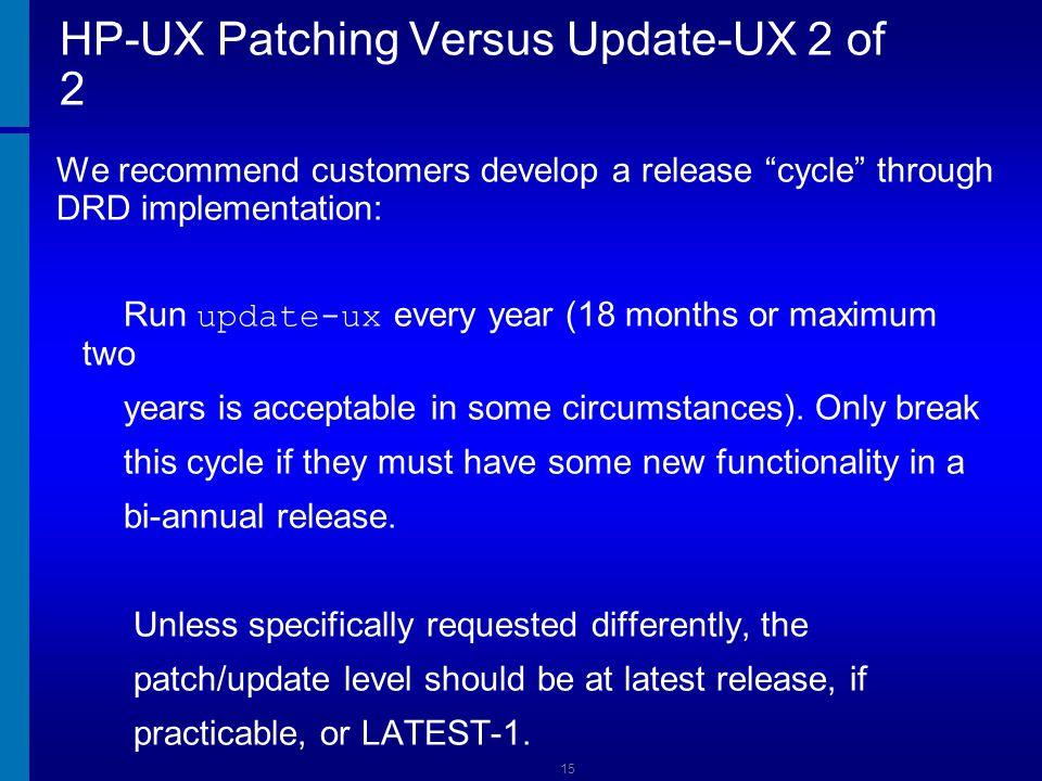 HP-UX Patching Versus Update-UX 2 of 2