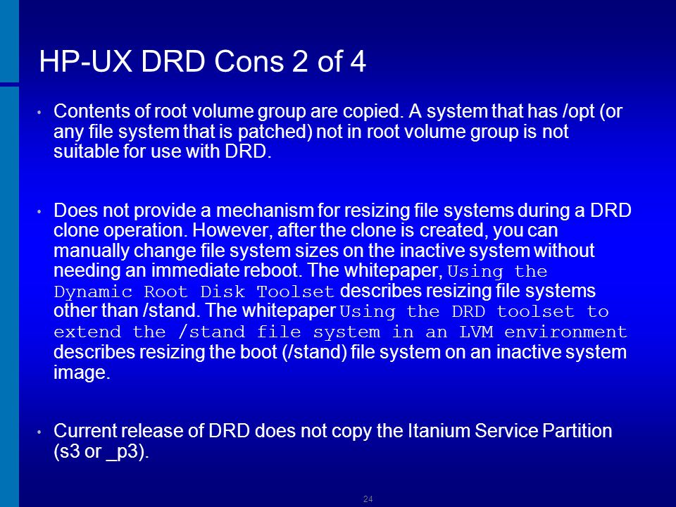 HP-UX DRD Cons 2 of 4 Dusan Baljevic.