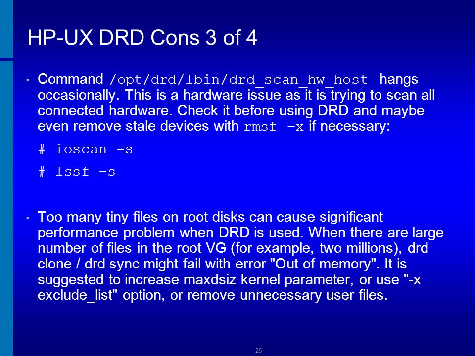 HP-UX DRD Cons 3 of 4 Dusan Baljevic.