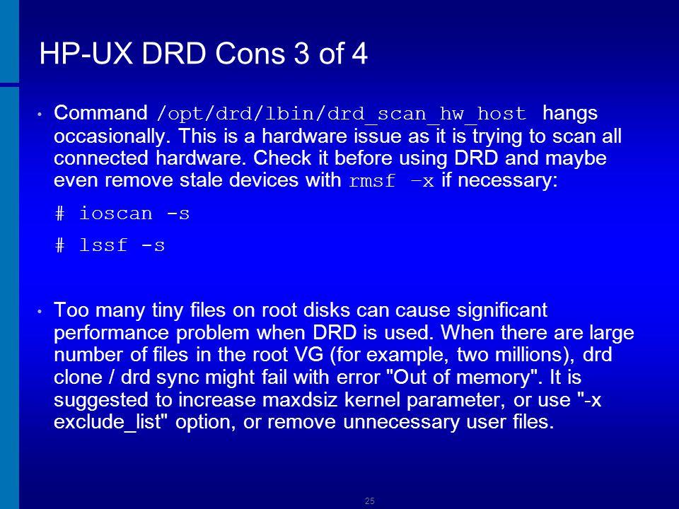 HP-UX DRD Cons 3 of 4 Dusan Baljevic.
