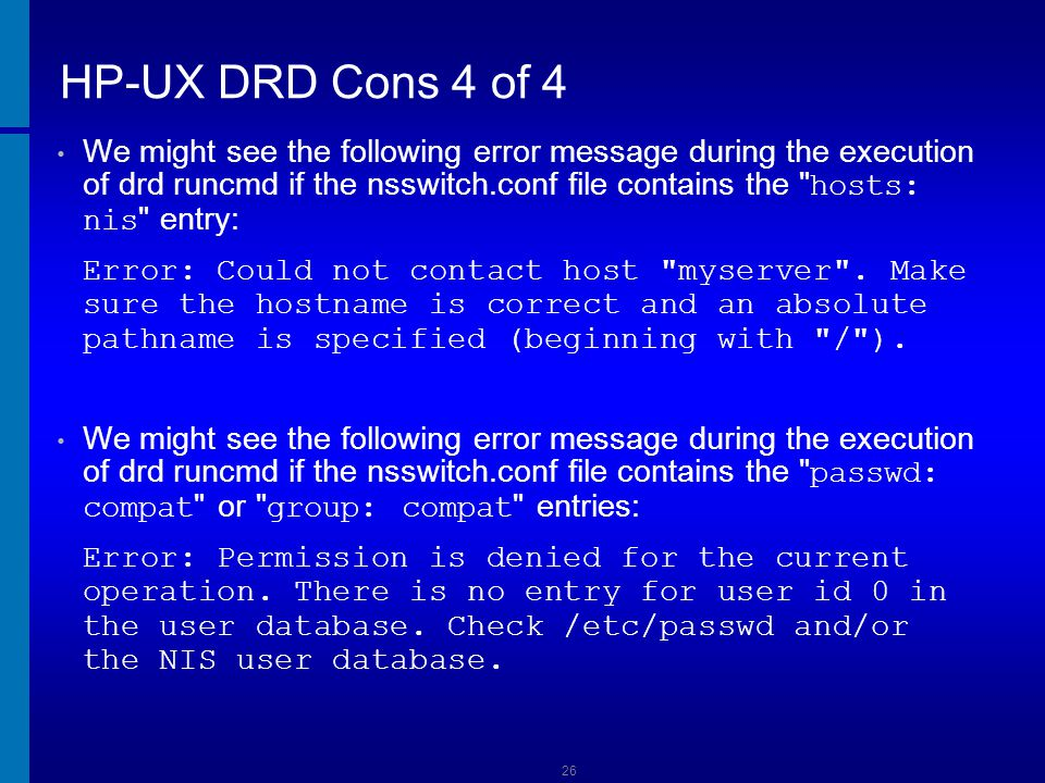 HP-UX DRD Cons 4 of 4 Dusan Baljevic.
