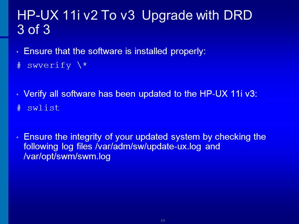 HP-UX 11i v2 To v3 Upgrade with DRD 3 of 3