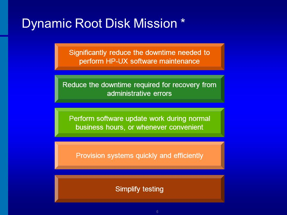 Dynamic Root Disk Mission *