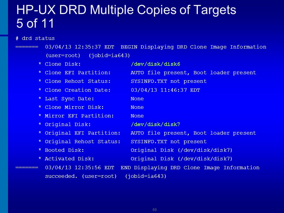 HP-UX DRD Multiple Copies of Targets 5 of 11