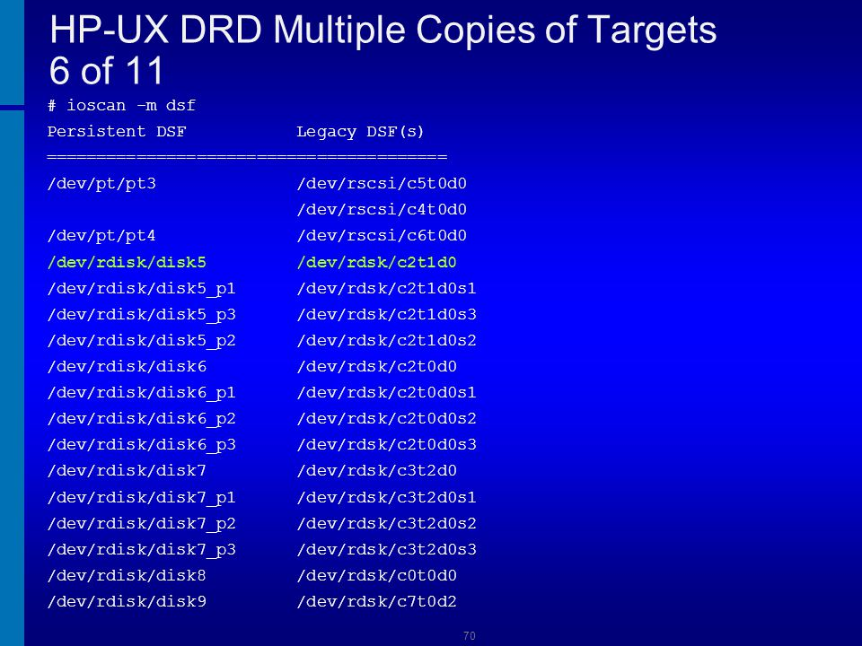 HP-UX DRD Multiple Copies of Targets 6 of 11