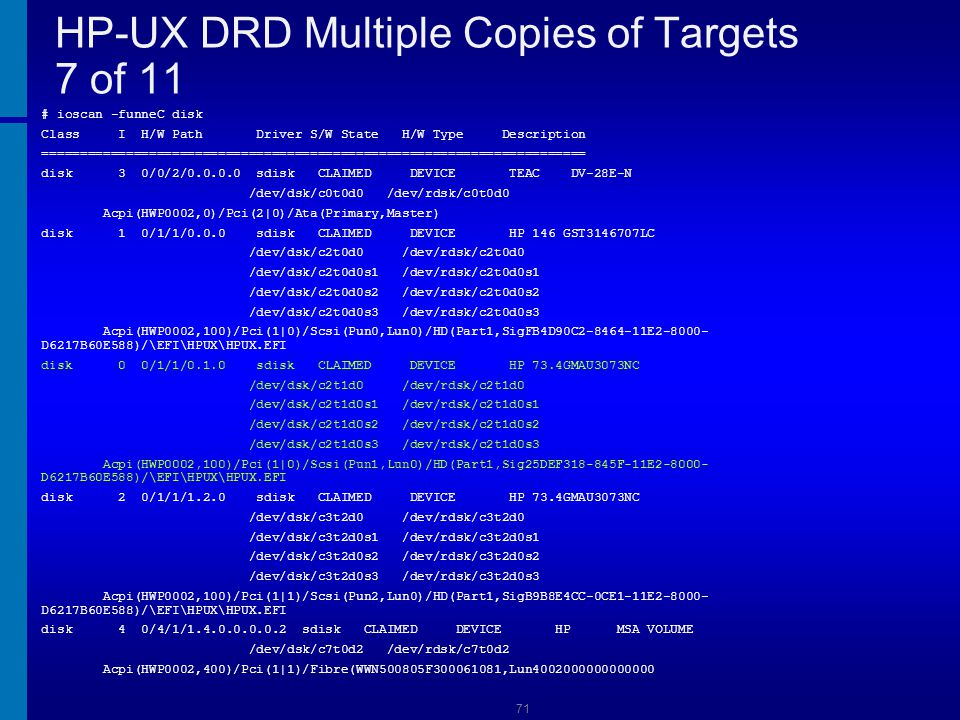 HP-UX DRD Multiple Copies of Targets 7 of 11
