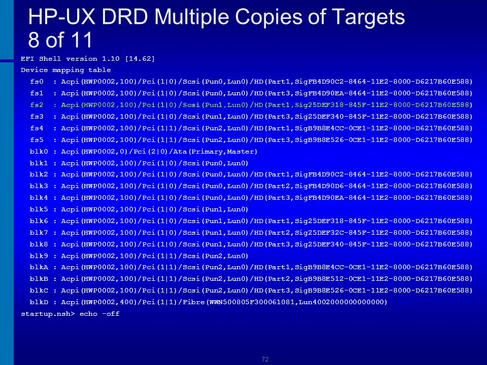 HP-UX DRD Multiple Copies of Targets 8 of 11
