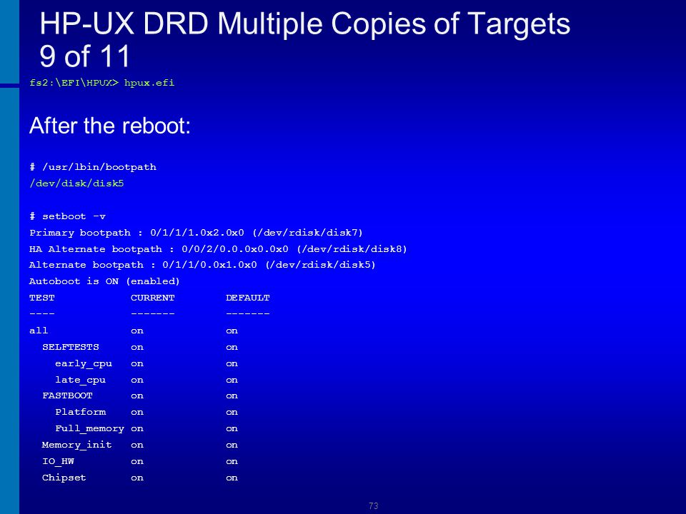 HP-UX DRD Multiple Copies of Targets 9 of 11