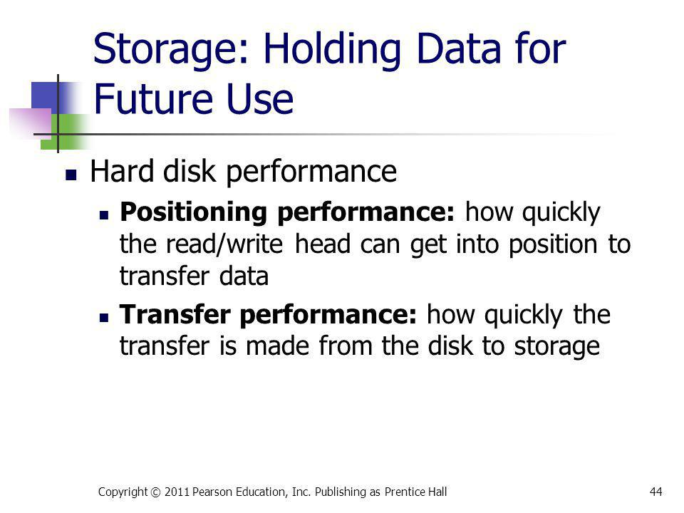 Storage: Holding Data for Future Use