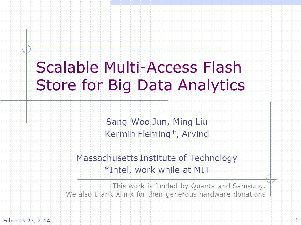 Scalable Multi-Access Flash Store for Big Data Analytics